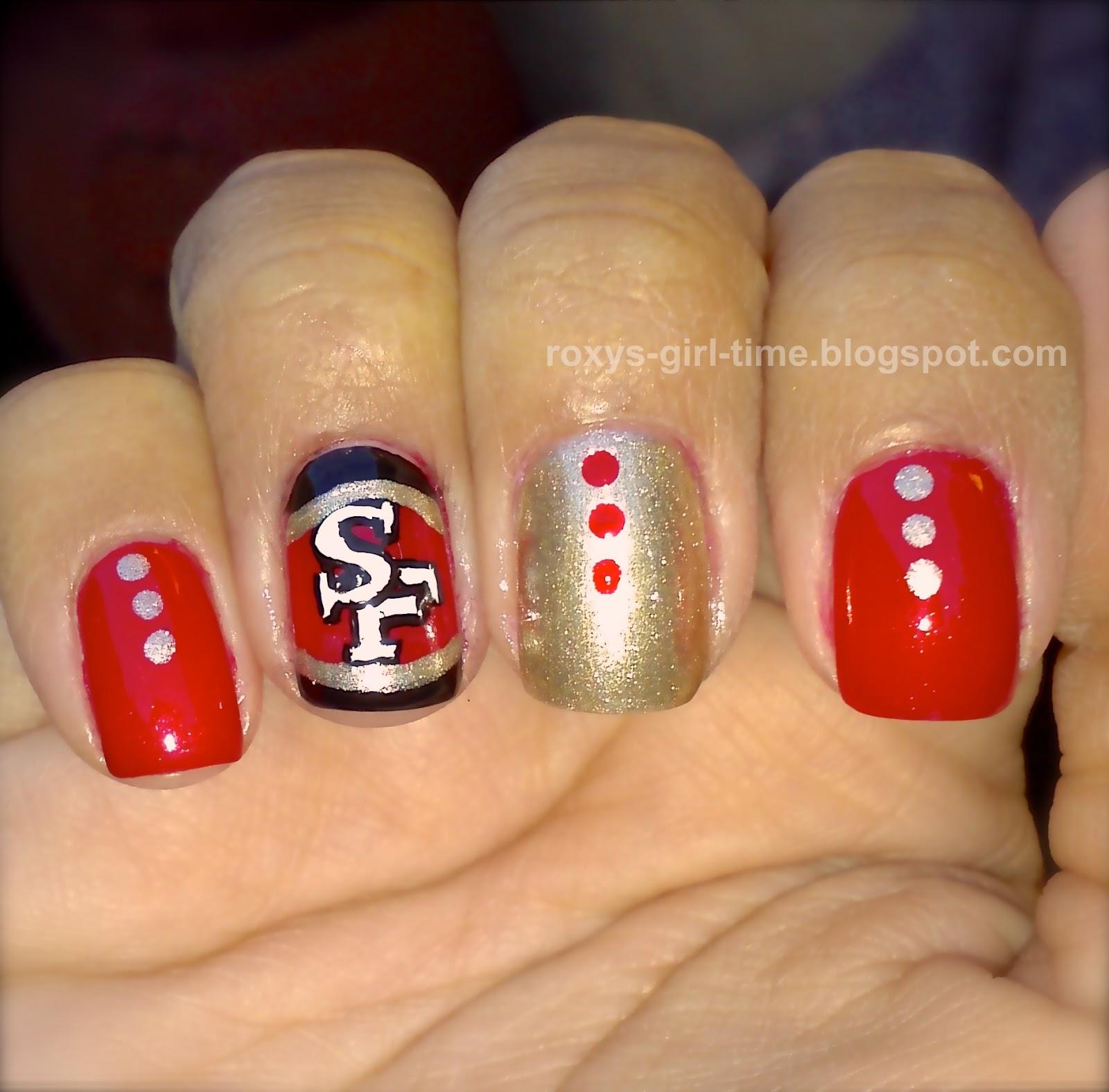 Roxys Girl Time Notd Sf 49ers Nail Art