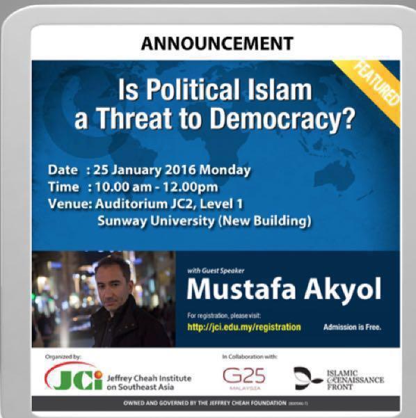 """MERUNGKAI KEKELIRUAN """"Adakah Politik Islam Ancaman Kepada Demokrasi?"""""""
