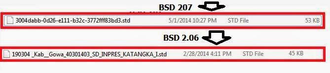 Beda Hasil BSD Dapodikdas 206 dan 207