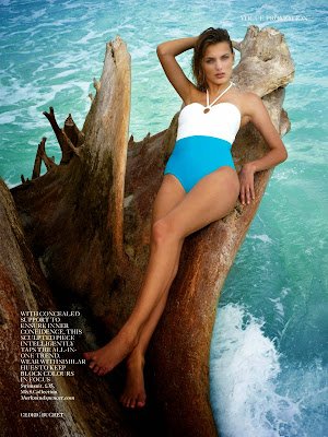 Bregje Heinen hot in sexy bikini swimsuit for Vogue UK photoshoot