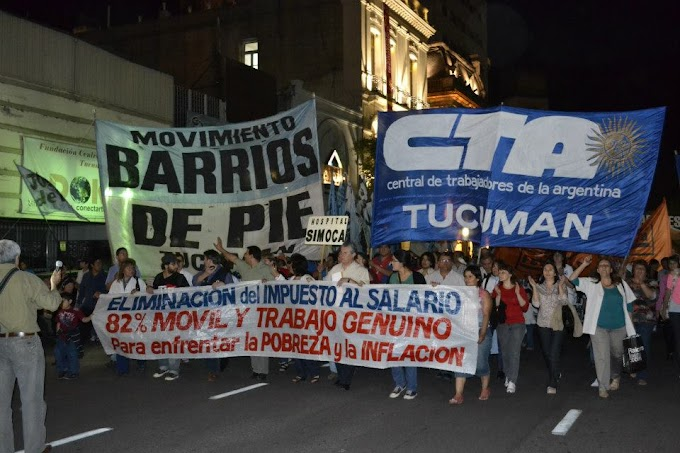 Protesta en la calle por mejoras laborales