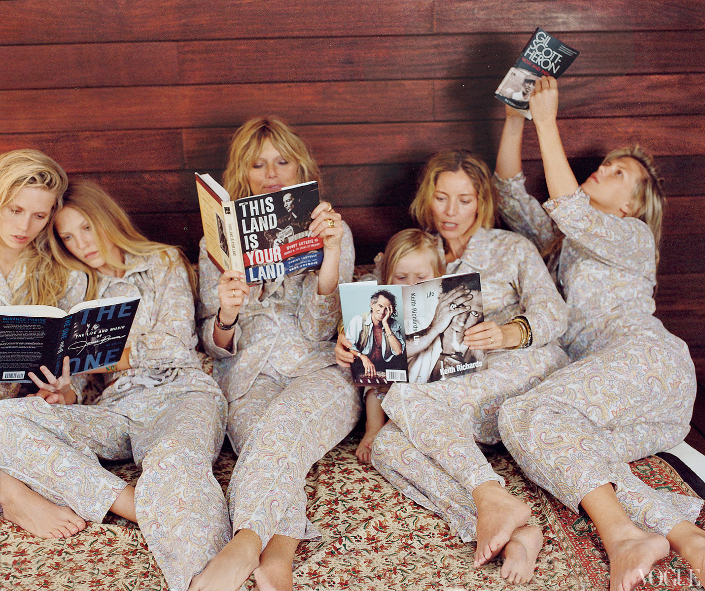 Shed Home : Patti Hansen and co. Keith Richards Family