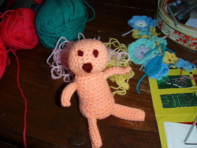 crochet teddy plush toy funny