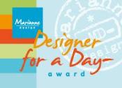 Deze award heb ik gekregen van Marianne.