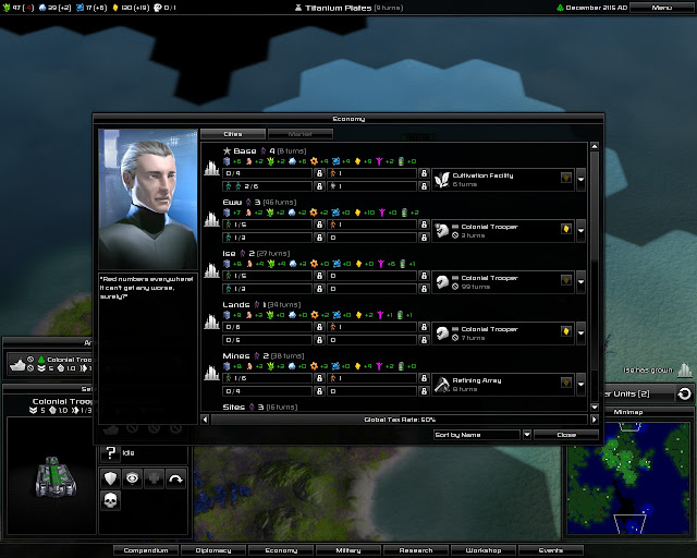 Pandora: First Contact - Economic Screen Screenshot