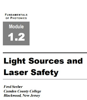 Fundamentals of Photonics : Light Sources and Laser Safety