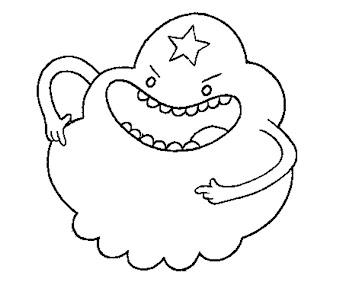 #4 Lumpi Space Princess Coloring Page