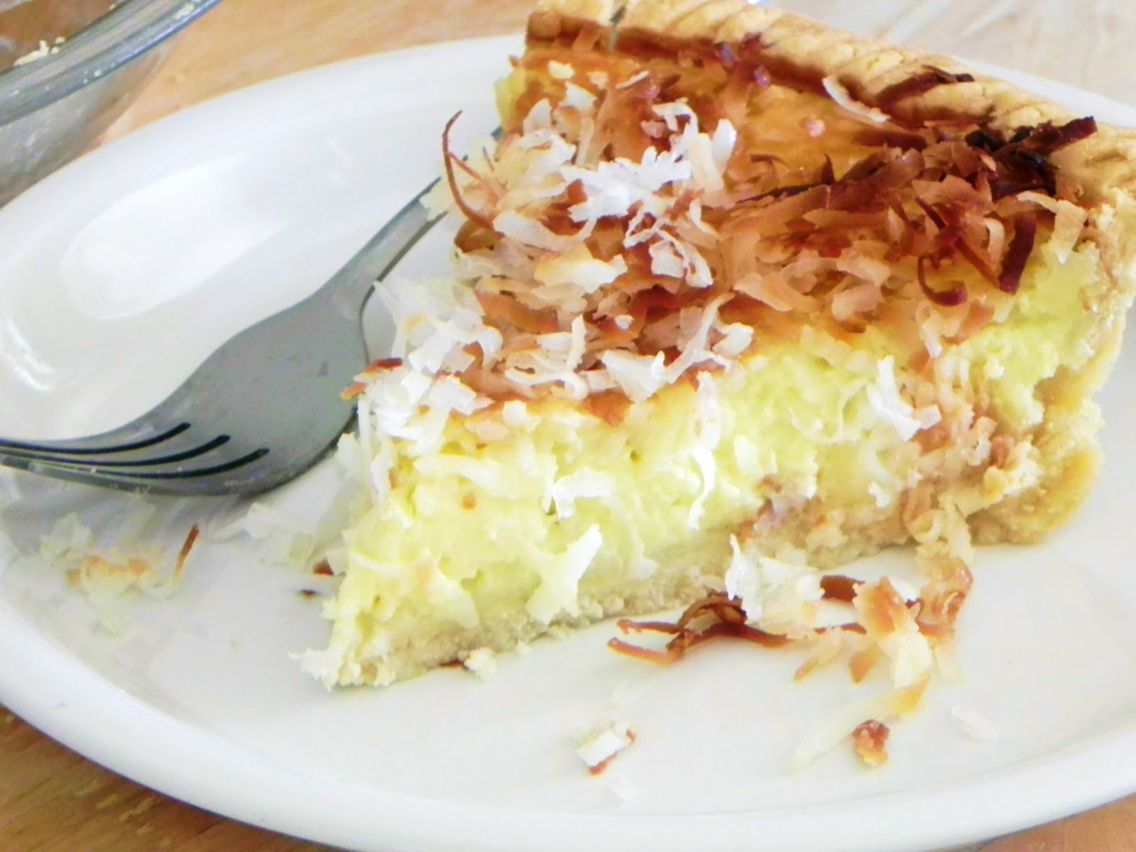 beyond foods: COCONUT CUSTARD PIE