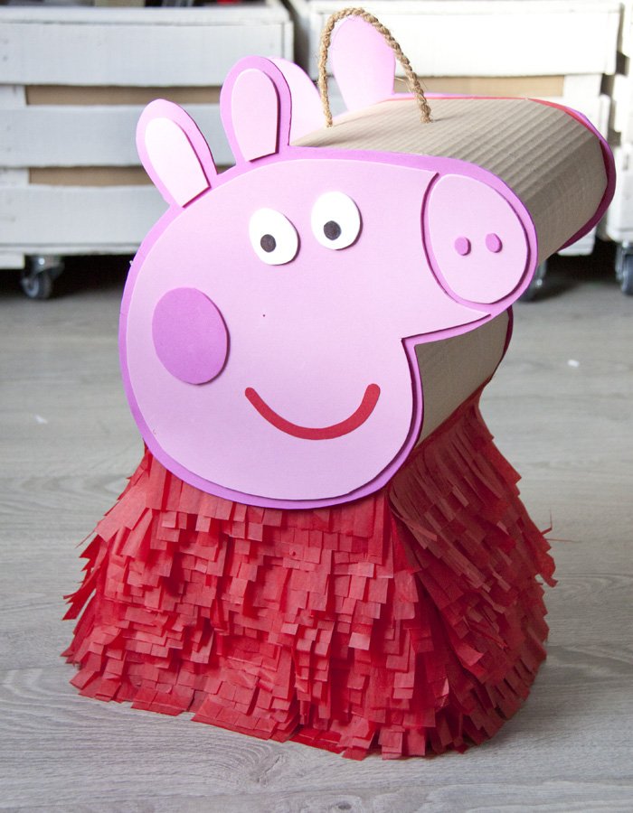peppa pig homemade pinata