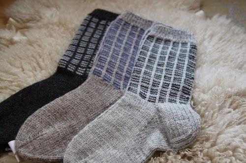 Miesten perinteiset villasukat