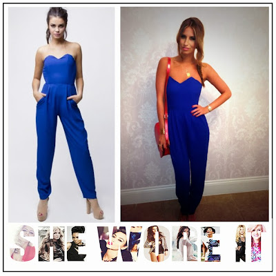 The Only Way is Essex, Ferne Mccann, In Love with Fashion, Cobalt Blue, Strapless, Jumpsuit, Fitted Bodice, Slim Fit Leg, Pocket Detail, TOWIE,