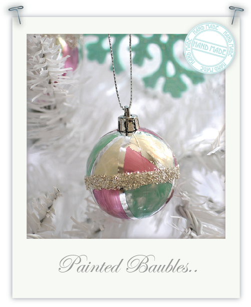 DIY vintage inspired baubles by Torie Jayne