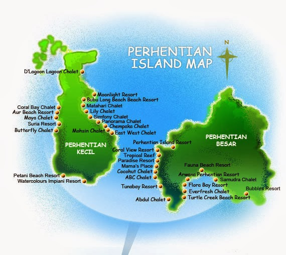 Perhentian Island Resort List