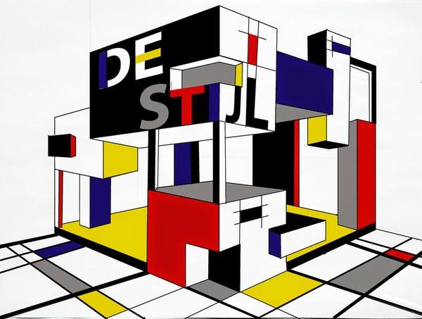 History of colour in design de stijl interior design