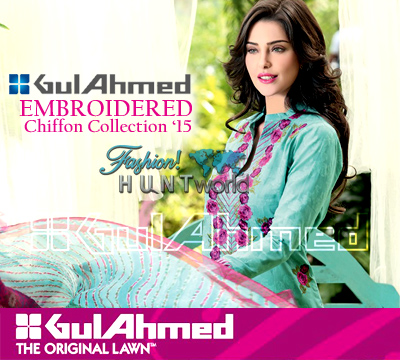 Gul Ahmed Embroidered Chiffon 2015