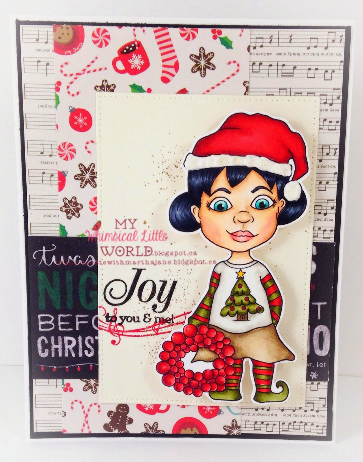 Christmas, copic, digi stamp, digital stamp, stamp, christmas stamp, elf