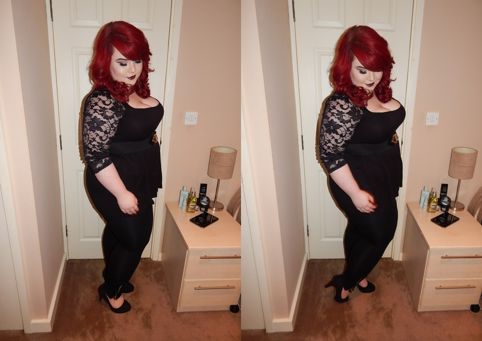 The Curve's Zip Detail Leggings, Georgina Grogan, plus size blogger, shemightbeloved