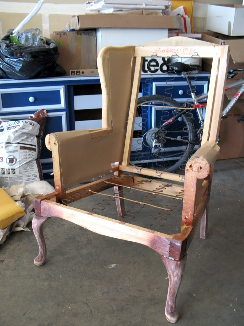 1000 images about wingback chairs on pinterest wingback for How to reupholster a chair