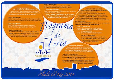 Alcalá del Río - Feria 2014 - Programa de Actos