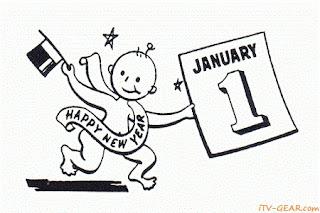 Kartu ucapan selamat tahun baru 2012 lucu-lucu