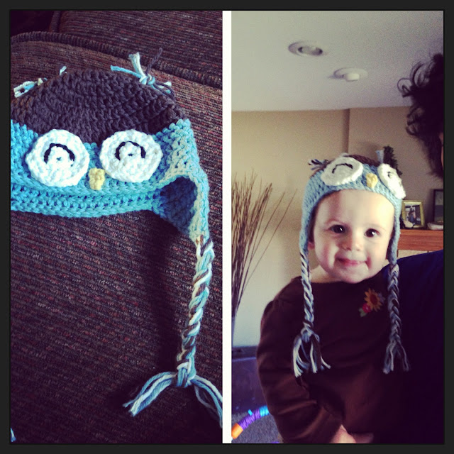 child's owl crochet hat