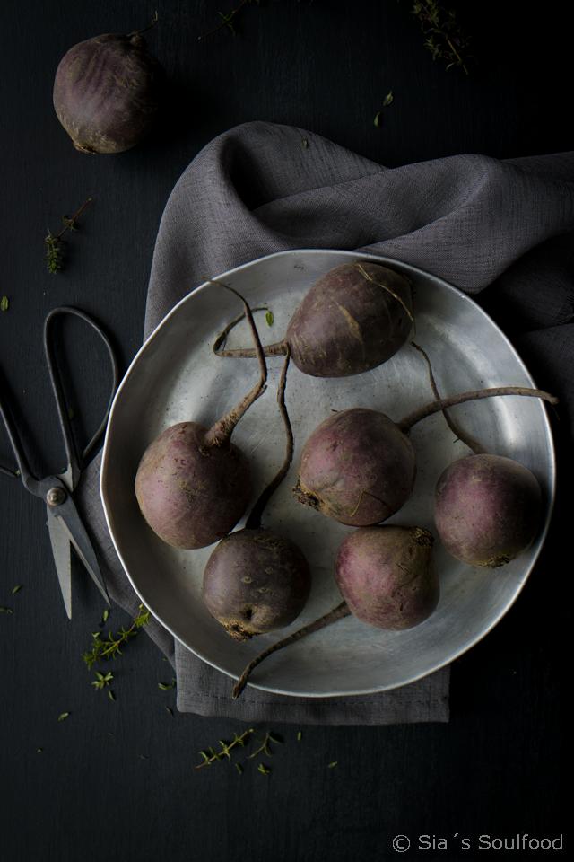 Rote Bete-Kartoffel-Gratin