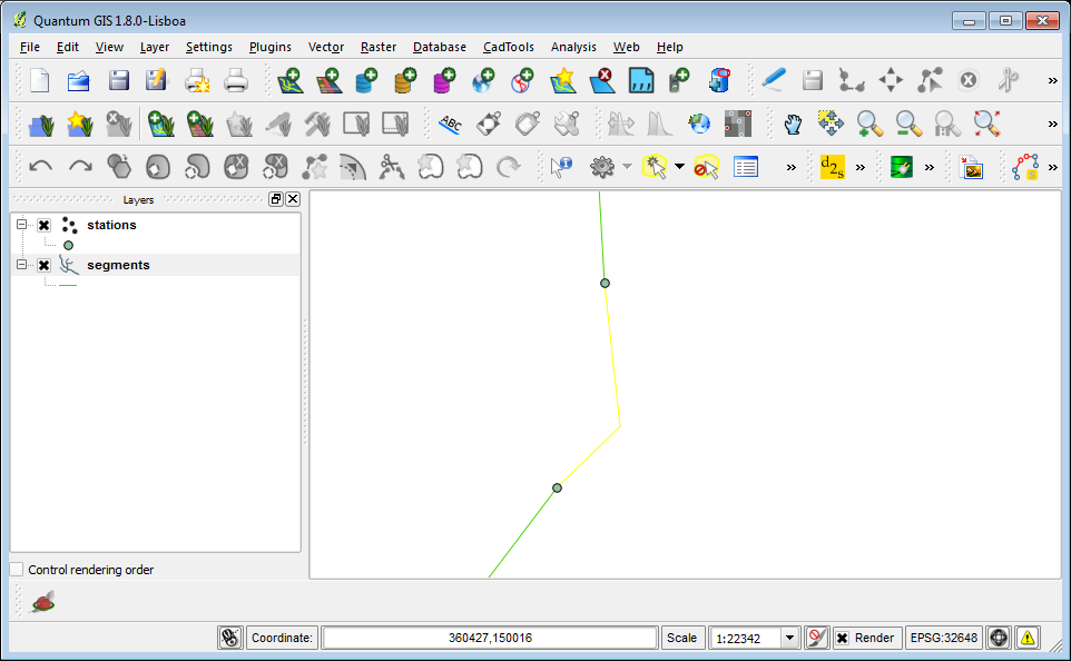 Drawing Lines In Quantum Gis : Dominoc edit line segments to snap vertex nodes in