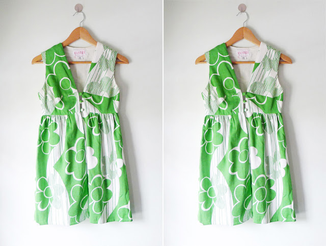 70's vintage flower power dress