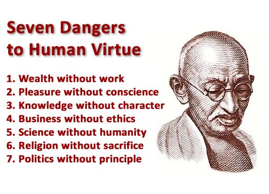 friday quotes : seven dangers to human virtue - Ehmscapades