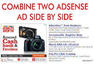 how to show adsense below blogger title
