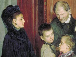 Alexei Korzukhin, Before confession, 1877, deatil