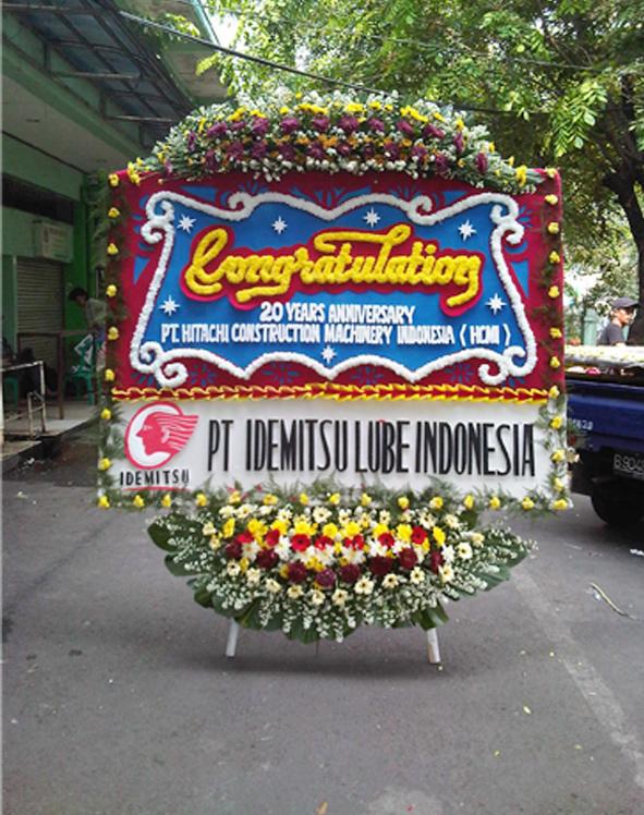 papan bunga pembukaan restoran