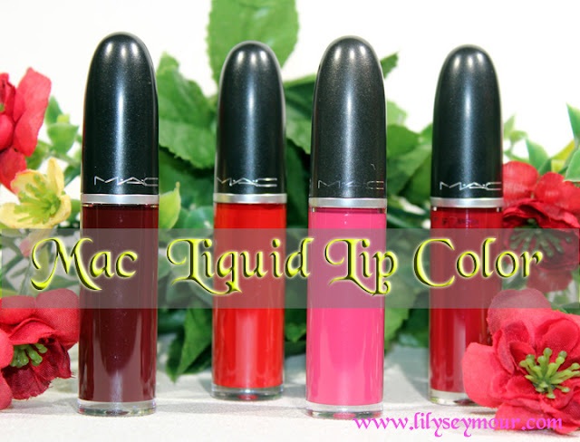 MAC Liquid Lip Color Swatches on Brown Skin