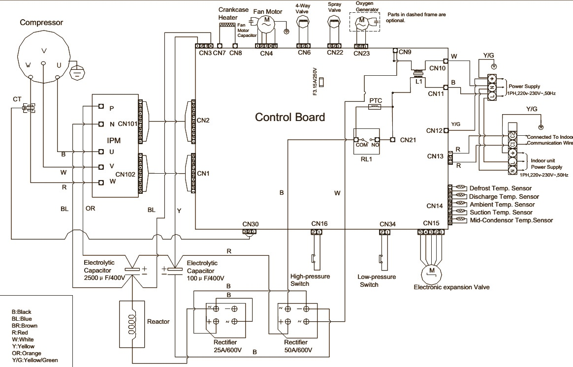 FIG 1 haier au242fhbia au482fibia au48nfibja wiring diagram commercial haier air conditioner wiring diagram at mifinder.co