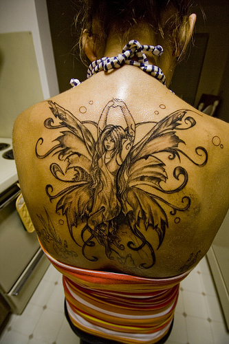 Back Fairy Tattoo
