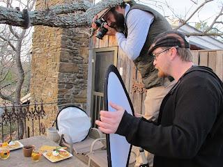 photographers filming breakfast