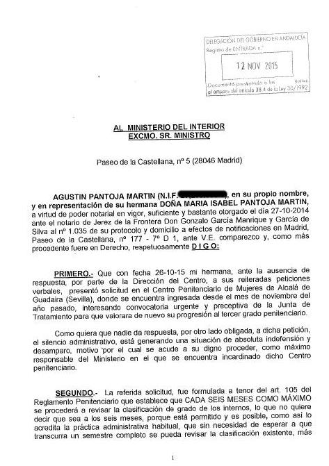 Isabel pantoja blog oficial libertad para isabel pantoja for Ministerio del interior pagina oficial