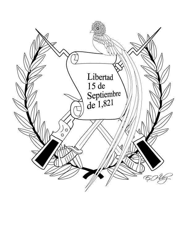 COLOREA TUS DIBUJOS: Dibujo del Escudo Nacional del Pais de ...