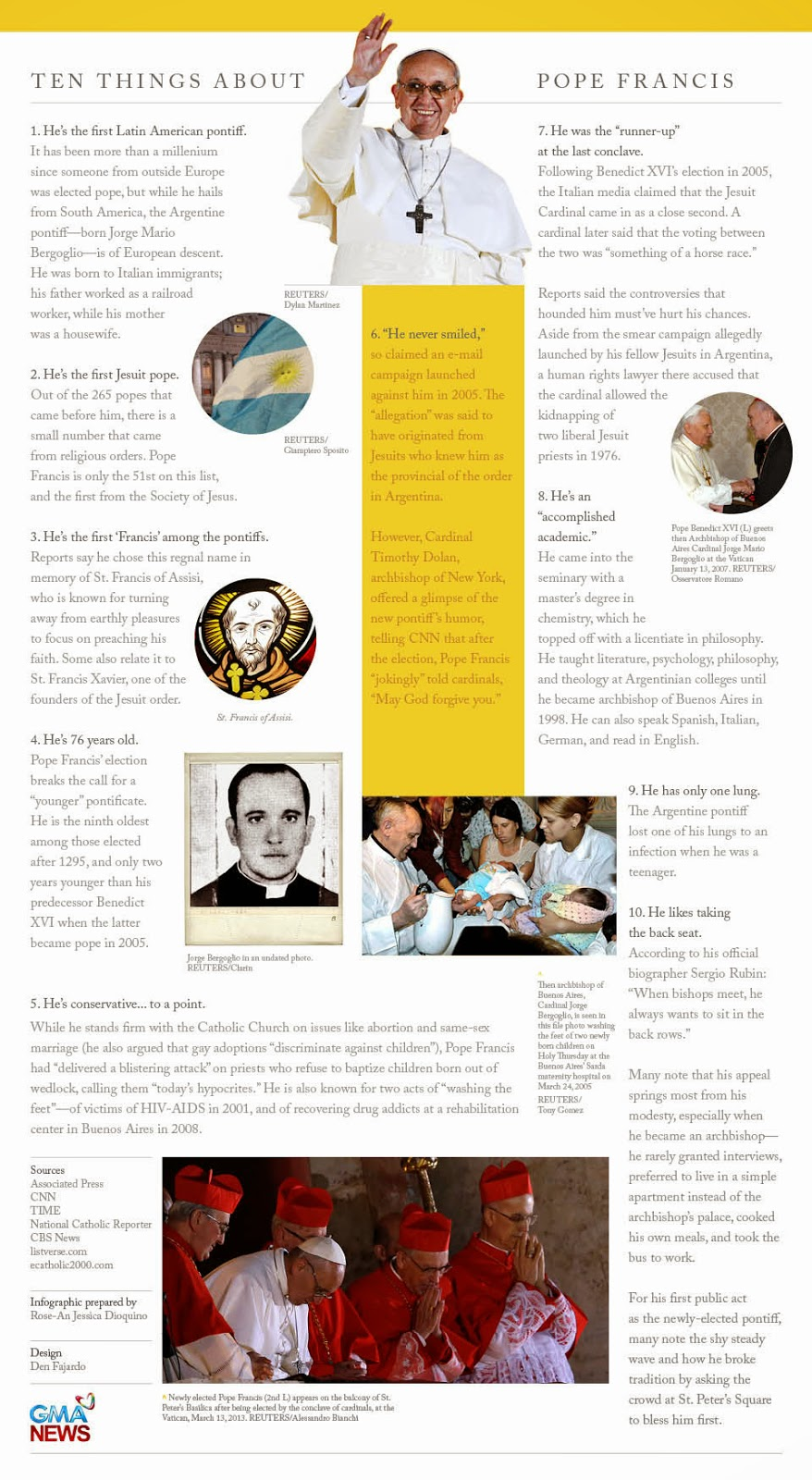 Pope Francis Infographic