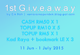 First Giveaway By Cik Itah | ramaramapendek