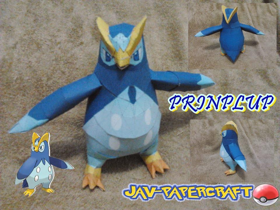 Prinplup Paper Model