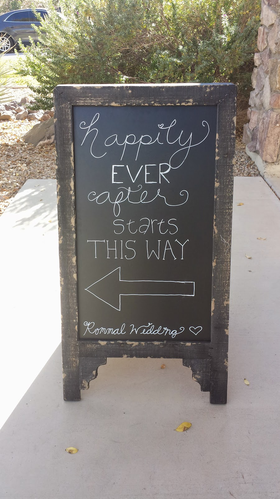 Wedding sign happily ever after starts this way