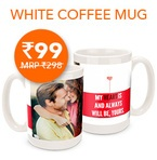 Customized White Mug at Zoomin