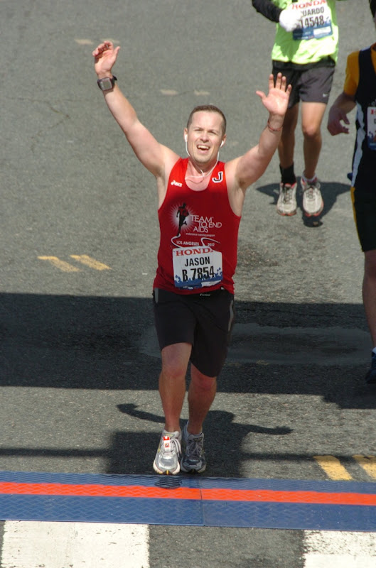 LA Marathon 2012 finish line