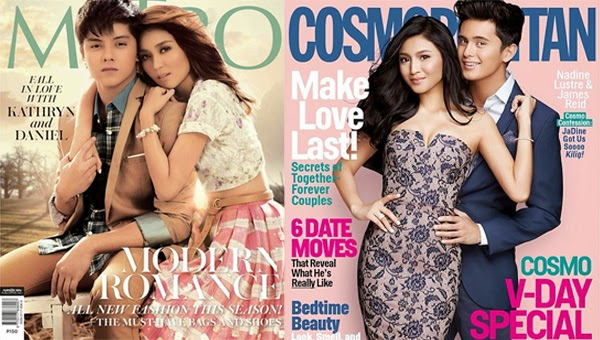 Jadine, Kathniel, more stars grace cover of magazines February 2015