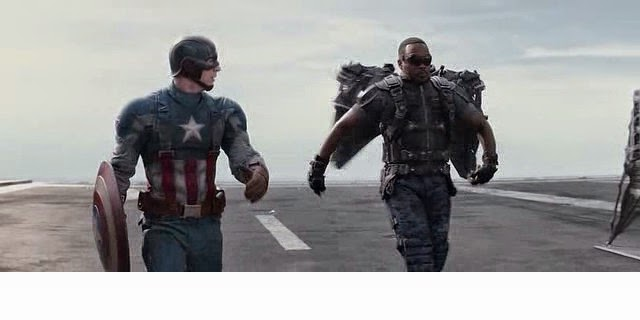 A Scene from the movie Captain America: The Winter Soldier By Ocean's Movie Reviews