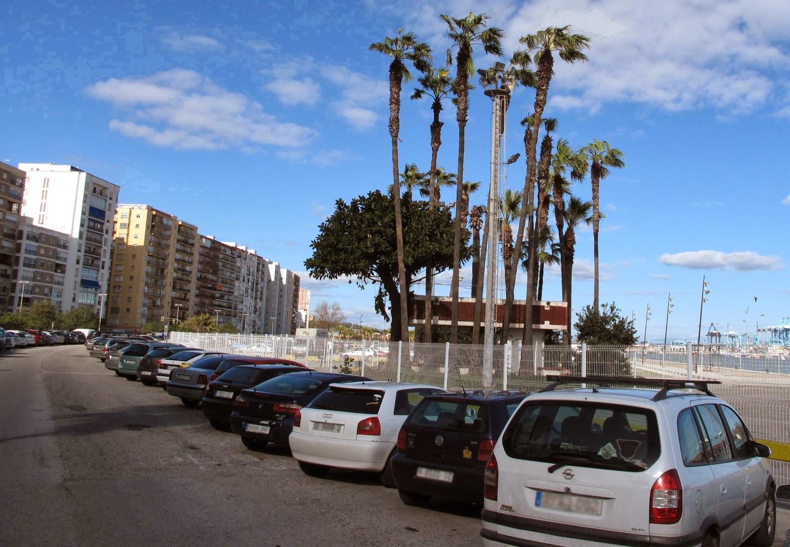 Tramo aparcamiento eliminado LLano Amarillo Algeciras