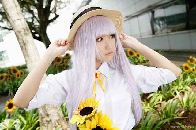 Kanade Tachibana Pretty Asian Cosplay Japanese Angel Beats Anime manga otaku kawaii cute coslayer tenshi tenshii angel cosplay