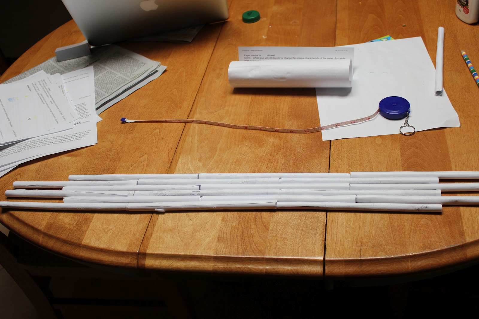 Then I Made Butt End Joints And Slip Tubes At Each Joint To Attach Tube Laminated The Whole Thing With Sheets Of Paper That Completed Deck