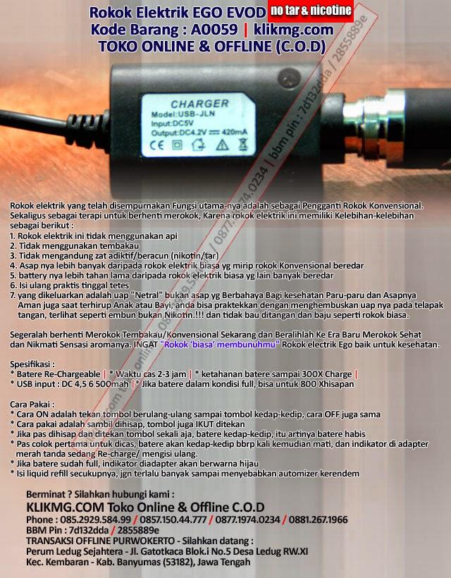 Rokok Elektrik EGO EVOD - Kode Barang : A0059 - [ E-Cigarette Rokok Sehat tanpa Nikotin & Tar ]